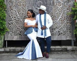 White African Couple Clothing/ Bride and Groom Outfit/ Traditional Wedding/ African Clothing/ Prom Couple Outfit/ Kitenge/ Dashiki/ Kente - Ufumbuzi - Home