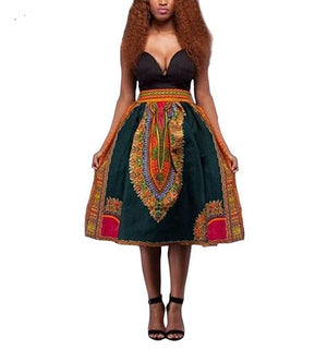 Dashiki Short Skirt