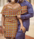 Couples Africana Print Dress - Ufumbuzi - Home