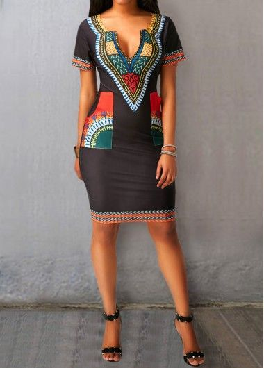 Dashiki mini Dress