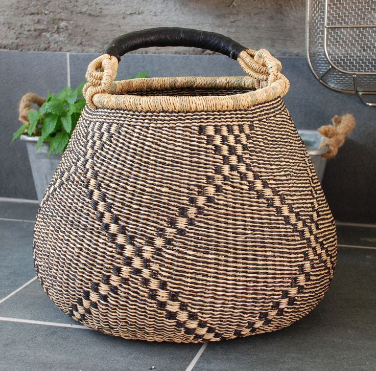 X Large Bell Shape Bolga Basket - Ufumbuzi - Home