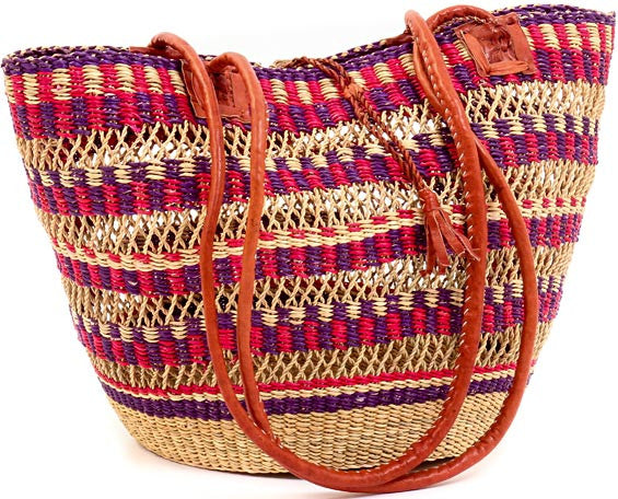 Bolga Basket Beach Purse - Ufumbuzi - Home