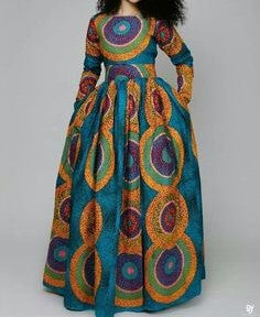Long sleeves African Fashion Dress - Ufumbuzi - Home
