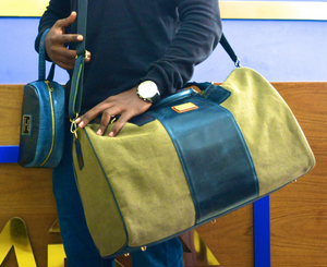 Luxury 100% Leather Luggage Men - Ufumbuzi - Home