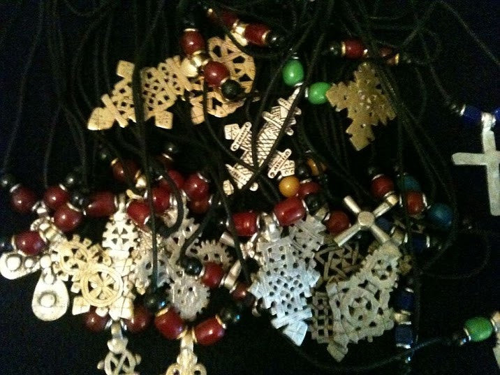 Assorted Ethiopian Cross Necklace