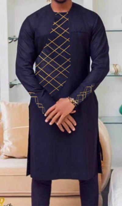 African Embroidered Mens Suit - Ufumbuzi - Home