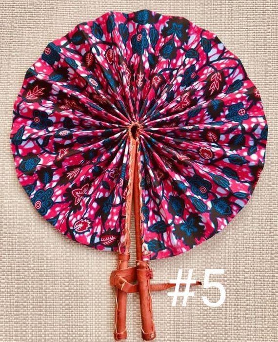 African Wax Print Folding Fan - Ufumbuzi - Home