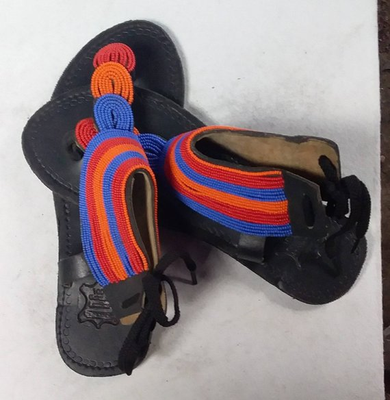 African beaded sandals for women