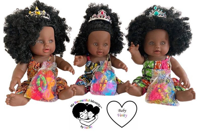 Gorgeous Afro Doll with African Fabric Outfit and Extra Hair Accessories - Ufumbuzi - Home