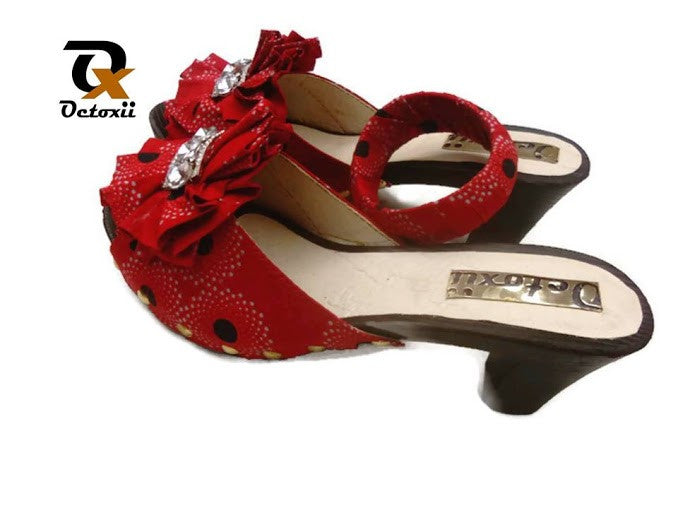 Nigerian Ladies Shoes with Matching Bracelet Set