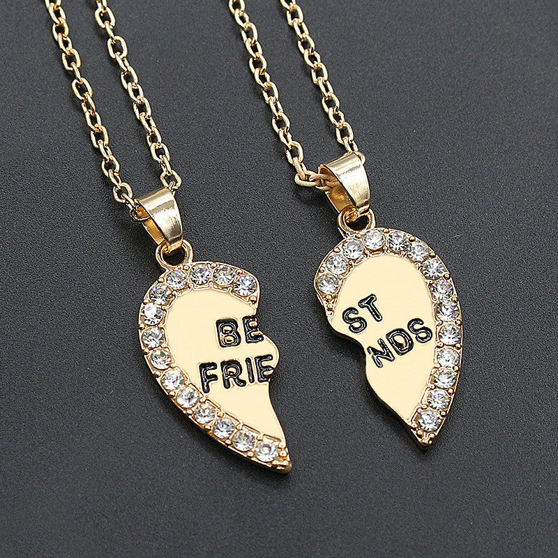 2pcs Love Pendant  Alloy Necklace Fashion Friend Friendship Jewelry for Men Women Unique Personalized Gifts - Ufumbuzi - Home