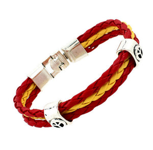 2018 World Cup National Flags Sports 3 Strands Rope Braided Surfer Leather Bracelets Fashion Men/Women Jewelry Bracelets - Ufumbuzi - Home