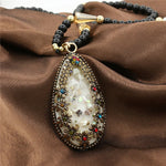 Korea Bohemia Decorative Female Pendant Jewelry Crystal Opal & Colorful Shell Long Paragraph Sweater Chain
