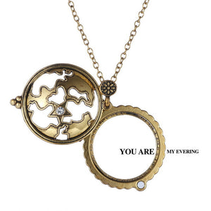Vintage Magnifying Glass Pendant Necklace Pokemon Hollow Creative  Pendant Necklace
