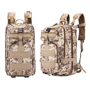Multi-functional 3P  camouflage shoulder bag 20L-35L outdoor leisure  backpack hiking backpack