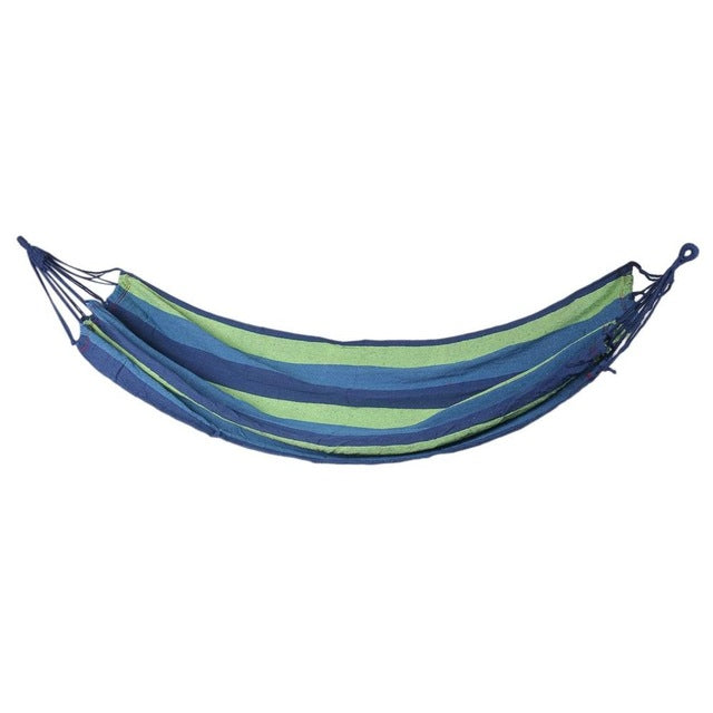 Hammock Garden Sports Houhold Travel Camping Outdoor Portable Canvas Stripe Hang Swing Single Bed Hammock  Popular Hot