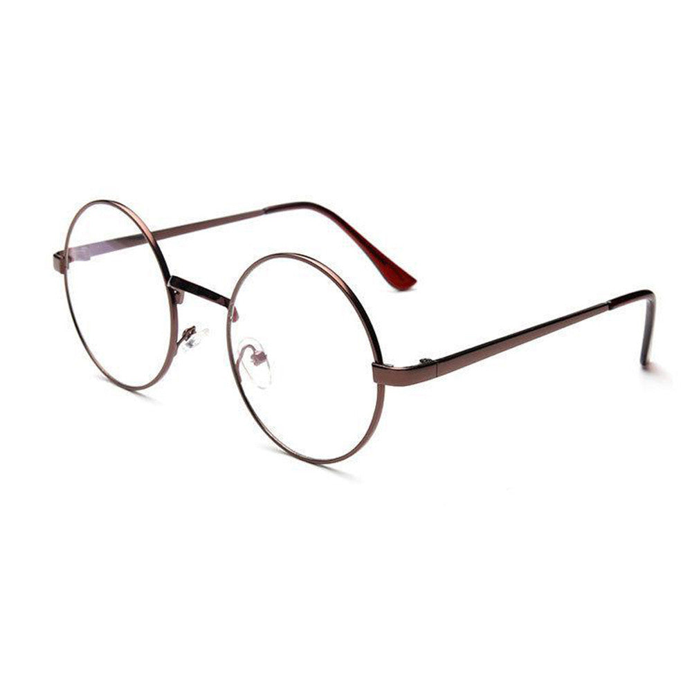 Fashion Unisex Classic Metal Frame Mirror Rounded Glasses
