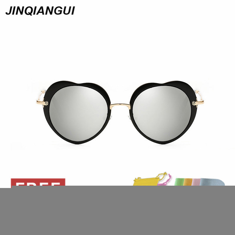 JINQIANGUI Sunglasses Women Round Retro Plastic Frame Sun Glasses Blue - Ufumbuzi - Home
