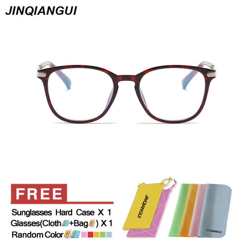 JINQIANGUI Glasses Frame Men Square Plastic Eyewear Black Color - Ufumbuzi - Home