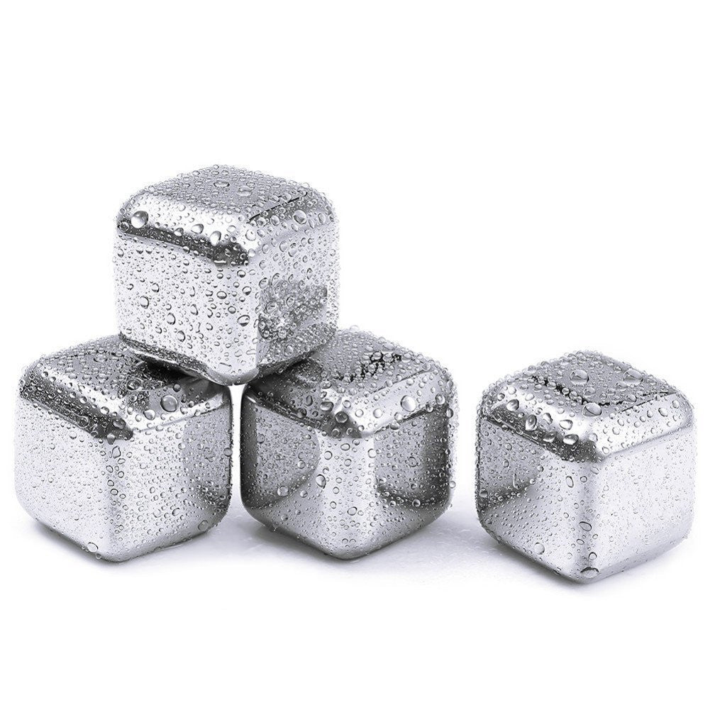 Reusable Stainless Steel Chilling Cube Stones Pack of 8/6/4 - Ufumbuzi - Home