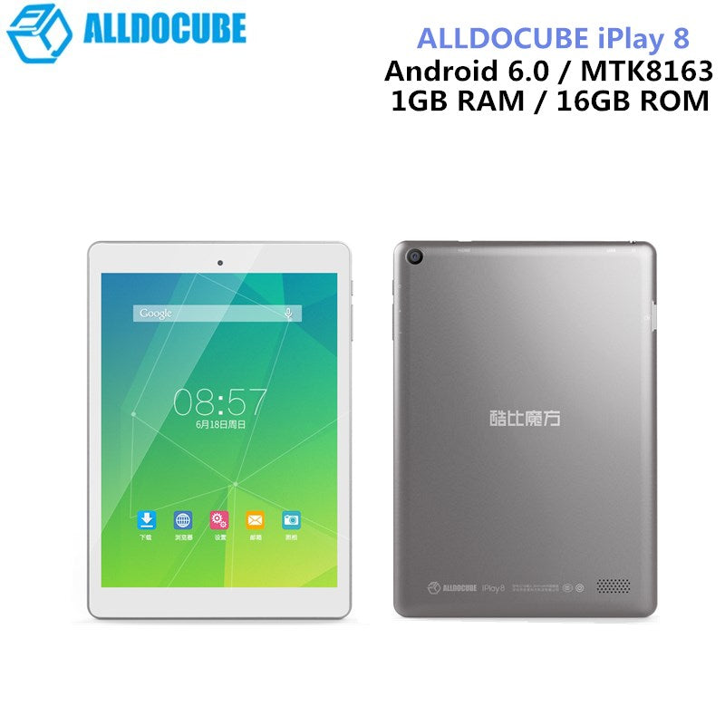 ALLDOCUBE IPlay 8 Tablets 7.85 Inch Android 6.0 MTK8163 Quad Core HDMI GPS 1024 X 768 IPS Dual Wifi 1GB 16GB OTG Tablets PC