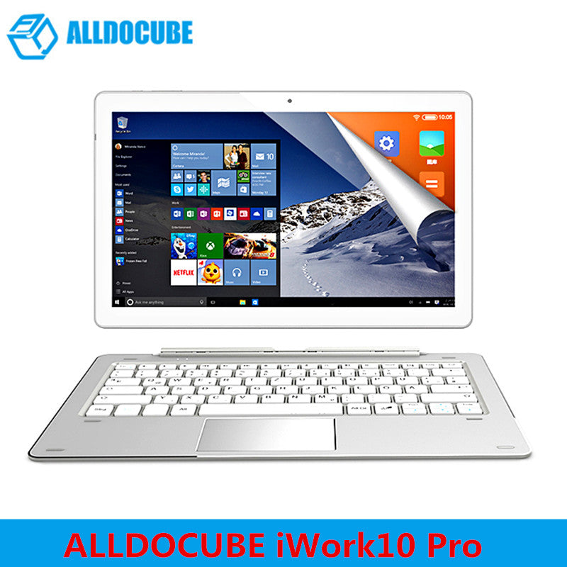 ALLDOCUBE iWork10 Pro 2 in 1 Tablet PC 10.1'' Windows 10 Android 5.1 Intel Cherry Trail x5-Z8350 Quad Core 1.44GHz 4GB 64GB HDMI - Ufumbuzi - Home