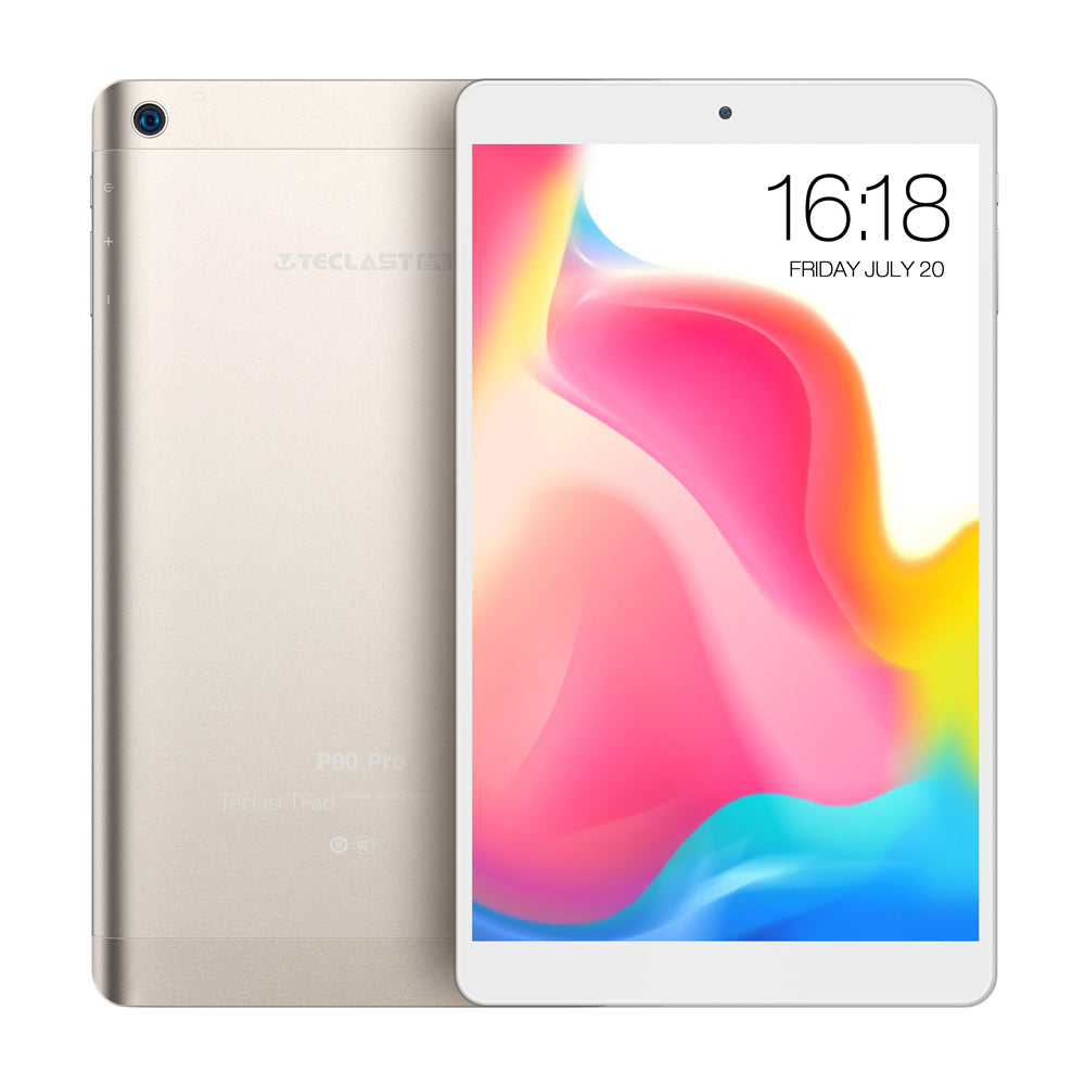 Teclast P80 Pro Tablet PC 8.0'' Android 7.0 MTK8163 Quad Core 1.3GHz 2GB RAM 16GB/32GB eMMC ROM Double Cameras Dual WiFi HDMI - Ufumbuzi - Home
