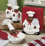 Chef African American salt and pepper shakers - Ufumbuzi - Home