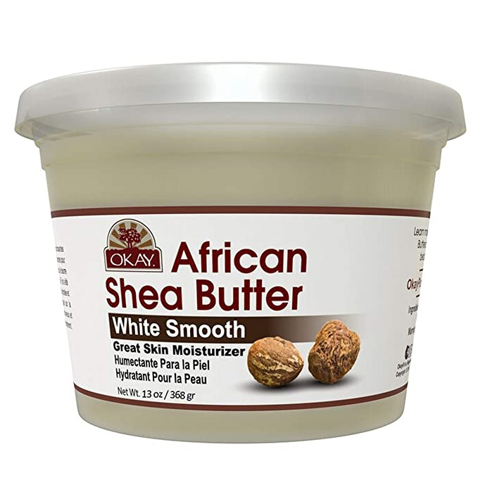 OKAY | African Shea Butter | For All Hair Textures & Skin Types | Daily Moisturizer - Soothe Irritation | White Smooth Refined | All Natural - Ufumbuzi - Home