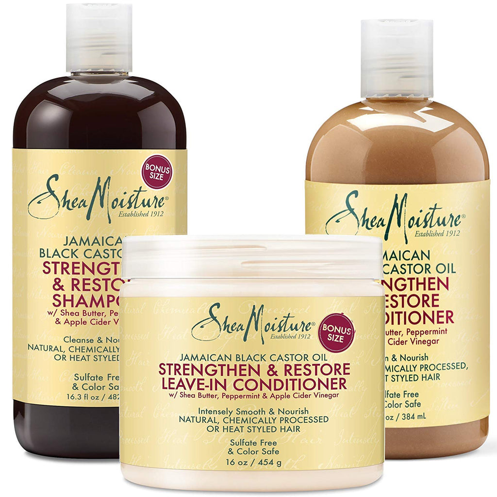 SheaMoisture African Black Soap Hair Care Pack | Dandruff Control Shampoo | Dandruff Control Conditioner | 13 fl. oz. Each - Ufumbuzi - Home