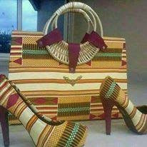 African Design Hand Bag & Shoes Set - Ufumbuzi - Home