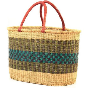 Bolga Two Handle Tote Oval - Ufumbuzi - Home