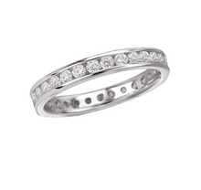 Load image into Gallery viewer, Diamond Eternity Band in 14kt White Gold