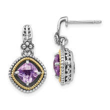 Load image into Gallery viewer, Sterling Silver With 14k Pink Quartz Earrings