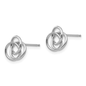 14k White Gold Madi K Love Knot Earrings