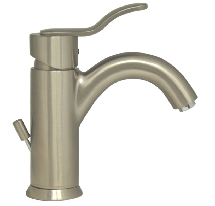 Whitehaus Galleryhaus Single Hole/Single Lever Lavatory Faucet with Pop-up Waste in Brushed Nickel