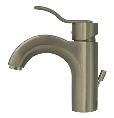 Whitehaus Wavehaus Single Hole/Single Lever Lavatory Faucet with Pop-up Waste in Brushed Nickel