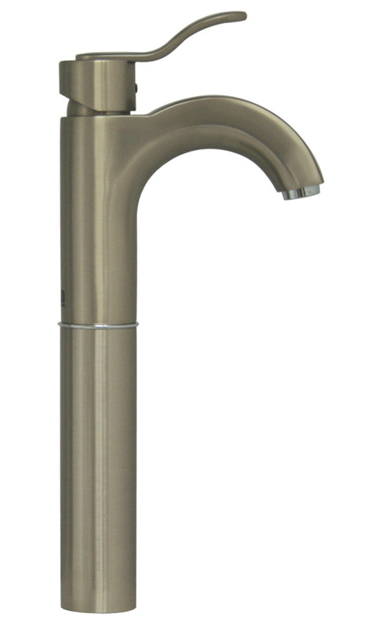 Whitehaus Wavehaus Single Hole/Single Lever Elevated Lavatory Faucet in Brushed Nickel