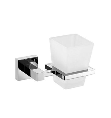 KubeBath Aqua Piazza Frosted Glass Tumbler Holder