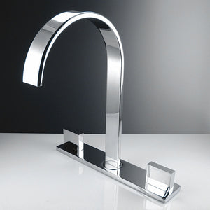 Fresca Sesia Widespread Mount Bathroom Vanity Faucet in Chrome