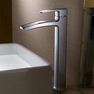 Fresca Fiora Single Hole Vessel Mount Bathroom Vanity Faucet in Chrome