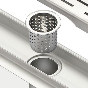 "KubeBath Kube 35.5"" Linear Drain with Linear Grate"