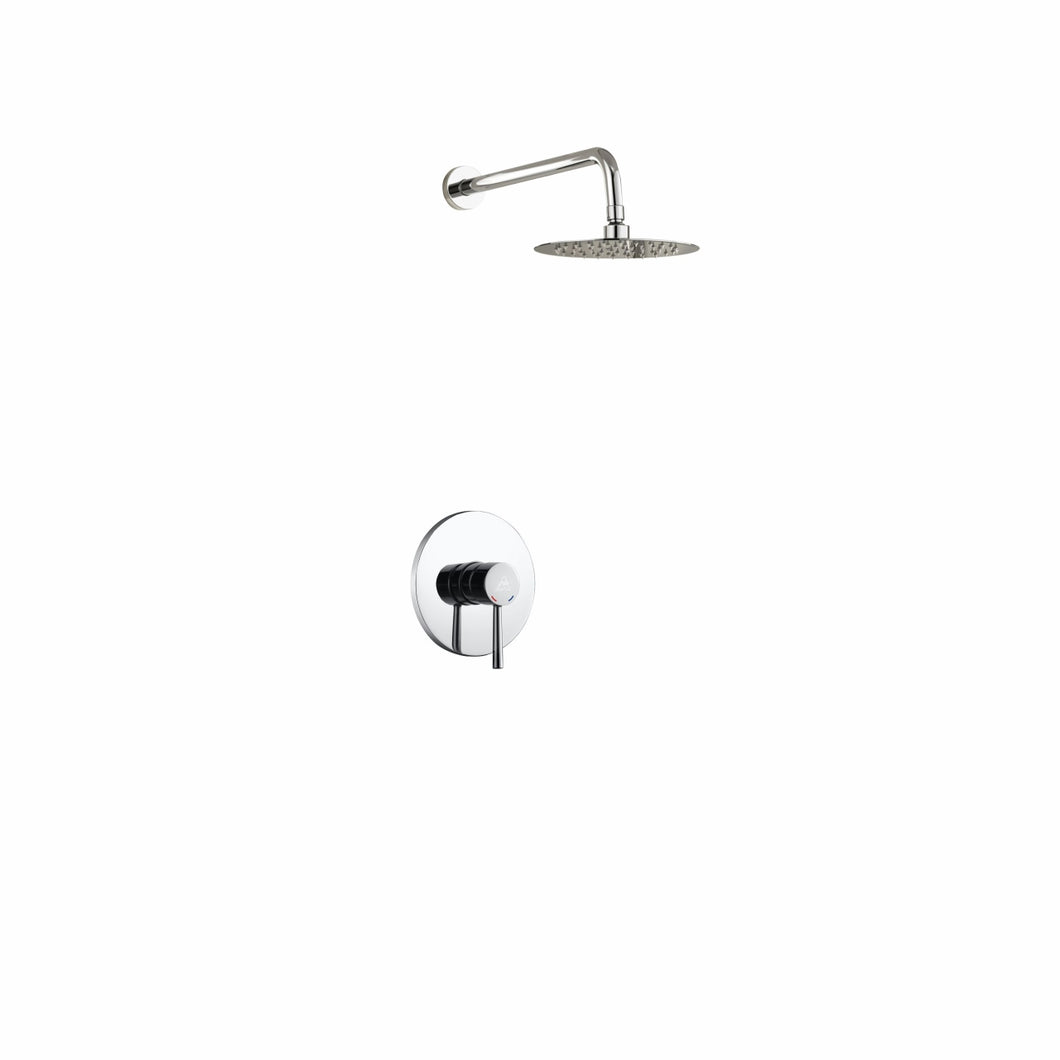 KubeBath Aqua Rondo Chrome Shower Set with 8