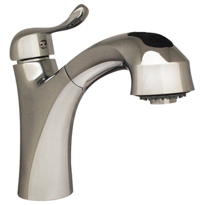 Whitehaus Jem Collection Single Hole/Single Lever Handle Faucet with a Pull Out Spray Head in Chrome