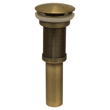 Load image into Gallery viewer, Whitehaus Decorative Pop-up Mushroom Drain with No Overflow in Antique Brass