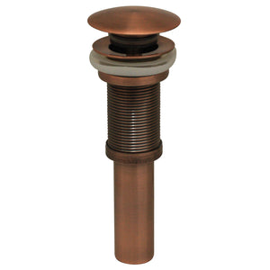 Whitehaus Decorative Pop-up Mushroom Drain with No Overflow in Antique Copper