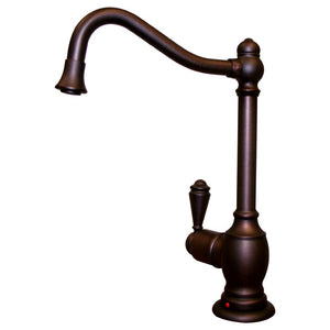 Whitehaus Point of Use Instant Hot Water Faucet with Traditional Spout and Self Closing Handle in Mahogany Bronze