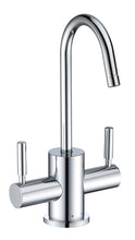 Load image into Gallery viewer, Whitehaus Point of Use Instant Hot/Cold Water Drinking Faucet with Gooseneck Swivel Spout in Chrome