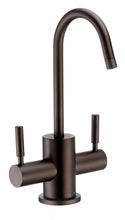 Load image into Gallery viewer, Whitehaus Point of Use Instant Hot/Cold Water Drinking Faucet with Gooseneck Swivel Spout in Oil Rubbed Bronze