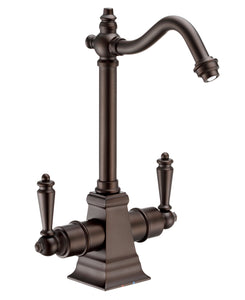 Whitehaus Point of Use Instant Hot/Cold Water Drinking Faucet with Traditional Swivel Spout in Oil Rubbed Bronze